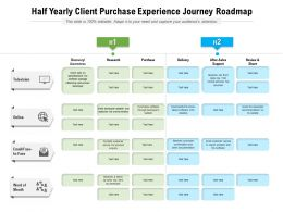 Half Yearly Client Purchase Experience Journey Roadmap