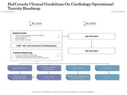 Half Yearly Clinical Guidelines On Cardiology Operational Toxicity Roadmap