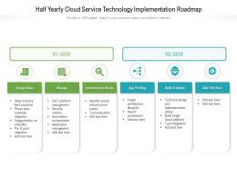 Half Yearly Cloud Service Technology Implementation Roadmap