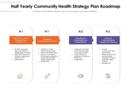 Half Yearly Community Health Strategy Plan Roadmap