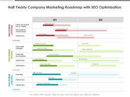 Half Yearly Company Marketing Roadmap With SEO Optimization