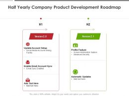 Half Yearly Company Product Development Roadmap