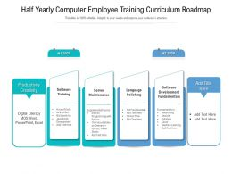 Half Yearly Computer Employee Training Curriculum Roadmap