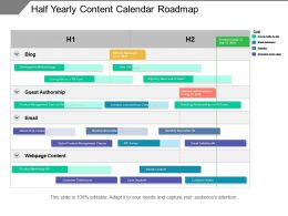 Half Yearly Content Calendar Roadmap