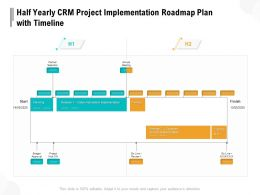 Half Yearly CRM Project Implementation Roadmap Plan With Timeline