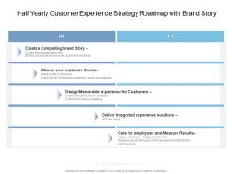 Half Yearly Customer Experience Strategy Roadmap With Brand Story