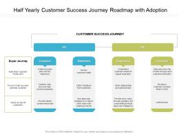 Half Yearly Customer Success Journey Roadmap With Adoption