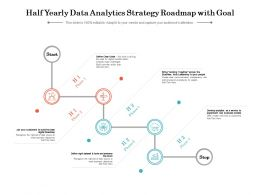 Half Yearly Data Analytics Strategy Roadmap With Goal