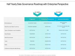 Half Yearly Data Governance Roadmap With Enterprise Perspective