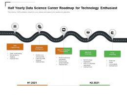 Half Yearly Data Science Career Roadmap For Technology Enthusiast
