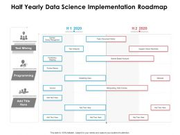 Half Yearly Data Science Implementation Roadmap