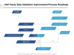 Half Yearly Data Validation Improvement Process Roadmap