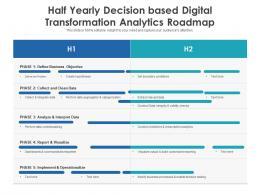 Half Yearly Decision Based Digital Transformation Analytics Roadmap