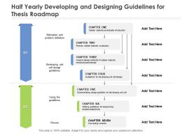 Half Yearly Developing And Designing Guidelines For Thesis Roadmap