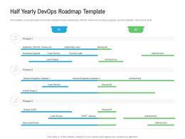 Half Yearly Devops Roadmap Timeline Powerpoint Template