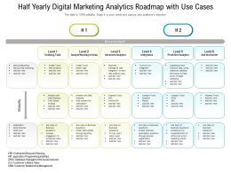 Half Yearly Digital Marketing Analytics Roadmap With Use Cases