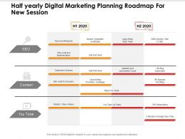 Half Yearly Digital Marketing Planning Roadmap For New Session