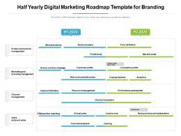 Half Yearly Digital Marketing Roadmap Template For Branding