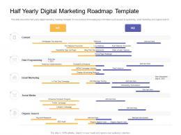 Half Yearly Digital Marketing Roadmap Timeline Powerpoint Template