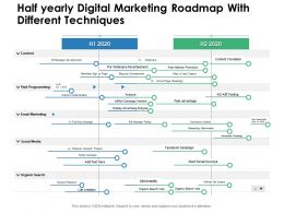 Half Yearly Digital Marketing Roadmap With Different Techniques