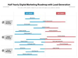 Half Yearly Digital Marketing Roadmap With Lead Generation