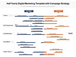 Half Yearly Digital Marketing Template With Campaign Strategy