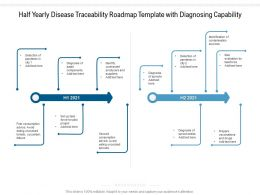 Half Yearly Disease Traceability Roadmap Template With Diagnosing Capability