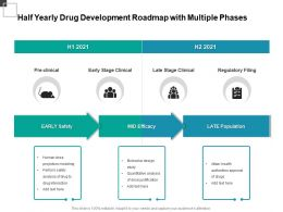 Half Yearly Drug Development Roadmap With Multiple Phases