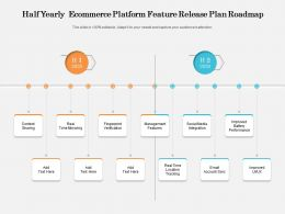 Half Yearly Ecommerce Platform Feature Release Plan Roadmap