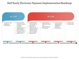 Half Yearly Electronic Payment Implementation Roadmap