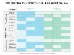 Half Yearly Employee Career With Skills Development Roadmap