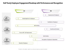 Half Yearly Employee Engagement Roadmap With Performance And Recognition