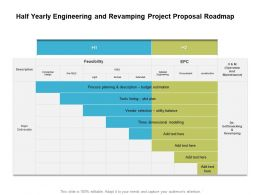 Half Yearly Engineering And Revamping Project Proposal Roadmap