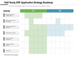 Half Yearly ERP Application Strategy Roadmap