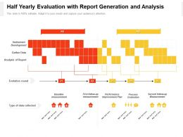 Half Yearly Evaluation With Report Generation And Analysis