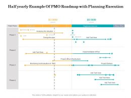 Half Yearly Example Of PMO Roadmap With Planning Execution