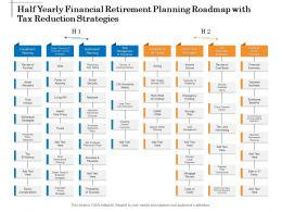 Half Yearly Financial Retirement Planning Roadmap With Tax Reduction Strategies