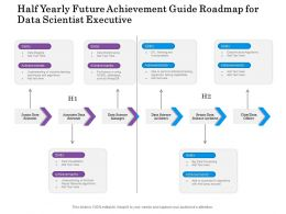 Half Yearly Future Achievement Guide Roadmap For Data Scientist Executive