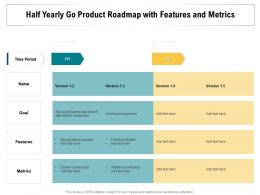 Half Yearly Go Product Roadmap With Features And Metrics