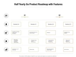 Half Yearly Go Product Roadmap With Features