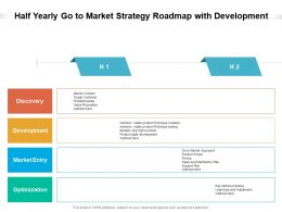 Half Yearly Go To Market Strategy Roadmap With Development
