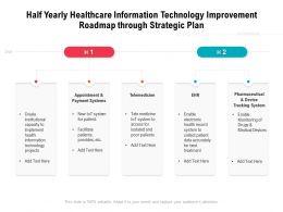 Half Yearly Healthcare Information Technology Improvement Roadmap Through Strategic Plan