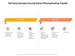 Half Yearly Information Security Solution Planning Roadmap Template