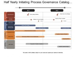 Half Yearly Initiating Process Governance Catalog Program Timeline