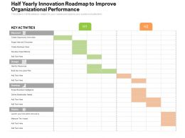 Half Yearly Innovation Roadmap To Improve Organizational Performance