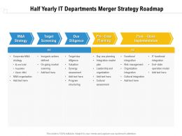 Half Yearly IT Departments Merger Strategy Roadmap