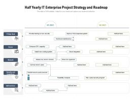 Half Yearly IT Enterprise Project Strategy And Roadmap