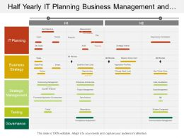 Half Yearly It Planning Business Management And It Strategy Timeline