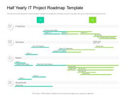Half Yearly IT Project Roadmap Timeline Powerpoint Template