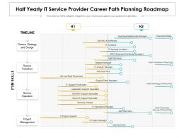 Half Yearly IT Service Provider Career Path Planning Roadmap